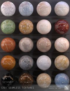 Marble Shaders for Iray | 3D Models for Poser and Daz Studio