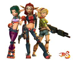 Jak 3 girls, I think I'm the only one who plays the jak and daxter series....