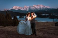 Nighttime wedding portraits featuring a golden hour sunset and a lit lantern. See more wedding images from around the world here | Image by Larisa Gancea Photography Night Time Wedding, Top Pic, Mountain Elopement, Wedding Photo Inspiration, Wedding Images, Wedding Portraits, Wedding Season, Elopements, Around The Worlds