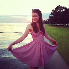 Doesn't Lauren look lovely in the newest Hottie Dress in Red Gingham?! #trashydivagingham #trashydivahottiedress