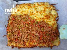 Misafir Sofralarina Yakisacak Patates Yemegi Good Meatloaf Recipe, Best Meatloaf, Meatloaf Recipes, Meatball Recipes, Grape Jelly Meatballs, Potato Dinner, Good Food, Yummy Food, Delicious Recipes