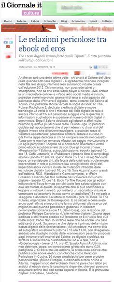 About Us: IlGiornale.it per il Salone Del Libro 2012. Le Relazioni Pericolose tra eBook ed eros. #SalTo12