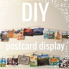 DIY Postcard Display | Meilou