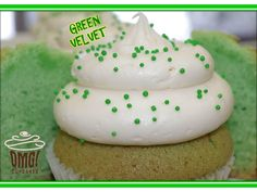 Green Velvet Cupcakes for St. Patrick's Day! Visit Omg! Cupcakes at	https://www.facebook.com/OmgCupcakesGP.