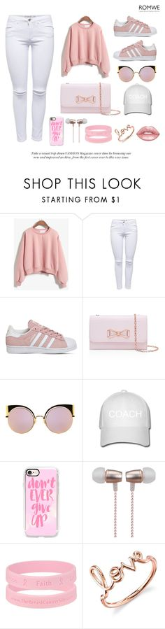 """Untitled #36"" by hilaryscragg ❤ liked on Polyvore featuring adidas, Ted Baker, Fendi, Casetify, Cynthia Rowley, Sydney Evan and Lime Crime"
