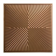 Echo - 2 ft. x 2 ft. Lay-in Ceiling Tile in Argent Bronze
