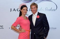 Jaguar Style Stakes Media Preview. Couple in peach