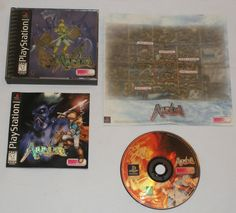 PS1 ALUNDRA Complete w/ Map RPG PlayStation game 1997 Rare Disc Art! Excellent!