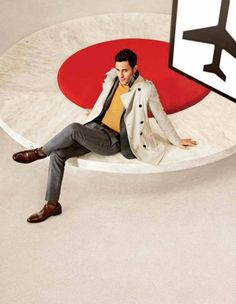 Noah Mills Travels with Style for Banana Republic Fall/Winter 2012 Campaign