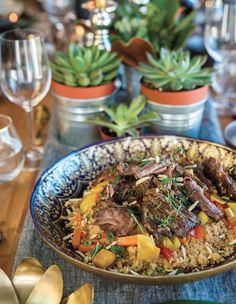 You'll find the Flank steak confit with couscous recipe in our first magazine, page 40.