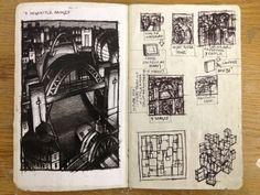 Thumbnail Sketches XI (biro)  - Jim Edwards