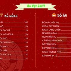 Menu tại KTX 1 Đại Học Nội Vụ, Quận Tây Hồ, Hà Nội - 1217498