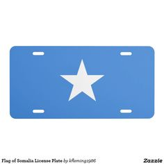 Flag of Somalia License Plate