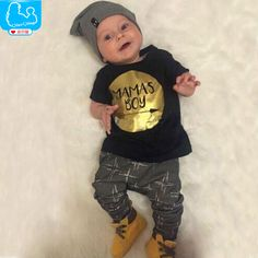 Summer Newborn Baby Clothes Set Baby Boy Clothes Jumpsuit MAMAS BOY Letter Print 2pc Infant Clothing Costume Short T-Shirt Pant♦️ SMS - F A S H I O N 💢👉🏿 http://www.sms.hr/products/summer-newborn-baby-clothes-set-baby-boy-clothes-jumpsuit-mamas-boy-letter-print-2pc-infant-clothing-costume-short-t-shirt-pant/ US $6.55