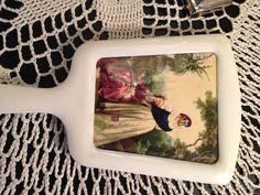 SALE Vintage Hand Mirror Vanity Piece by MiMisFavoriteThings