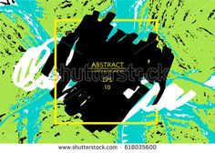 Tropical artistic border. Abstract background for brochure, flyer. Fun design. Creative concept. Crazy cover. Summer party banner. Vector illustration EPS10.