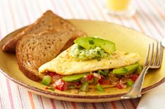 Omelette de aguacate
