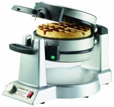 Why wait for waffles? Double your breakfast output with Waring's dual-sided Belgian waffle maker. It makes two thick, delicious waffles at the same time, baked to perfection with extra-deep pockets that put more syrup and toppings in every bite Waffle Maker Reviews, Best Waffle Maker, Belgian Waffle Maker, Belgian Waffles, Omelettes, Frittata, Crepes, Pancake, Kitchen