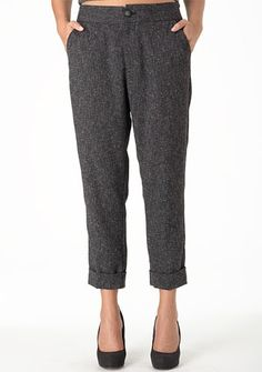 tweed pants for Fall, I have to say YES!