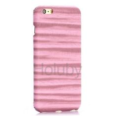Painting Ripples Texture PU Leather Coated PC Hard Cover Case for iPhone 6 Plus 6S Plus- Pink
