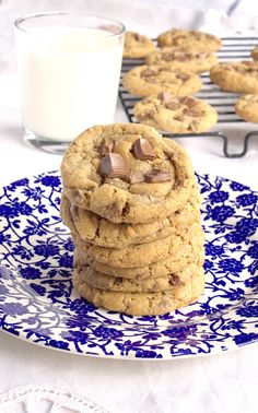 Brown Butter Milk Chocolate Chip Cookies - includes how to make brown butter