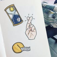fortune cookie drawing, timer doodle, hand drawing