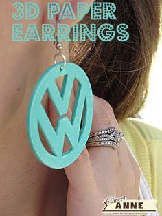 3D Paper Earring tutorial