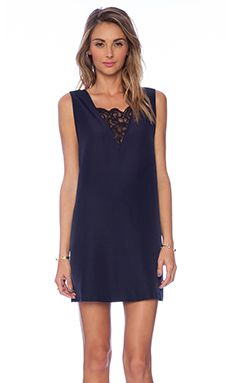 BB Dakota Gracyn Lace Inset Dress in Oilslick