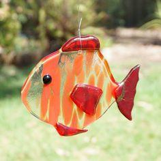 Fused Glass Fish - Sun Catcher