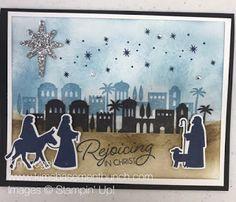 Night in Bethlehem, Bethlehem Edgelits, Silver Glimmer Paper, Rhinestones, sponges - Thailand Achiever's Blog Hop 08/22/2017