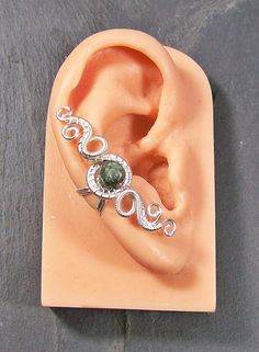 Seraphinite & Silver Woven Ear Cuff  Hands by HeatherJordanJewelry, $19.99