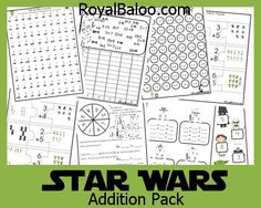 Star Wars themed pack to practice addition