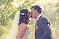 Toby & Mel's Wedding. You may kiss the bride. Country Weddings, Hepburn Springs, Melbourne, Victoria, Australia