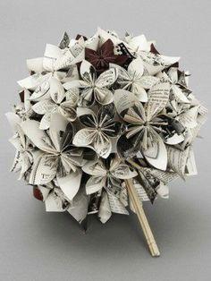 Origami Kusudama Flower Bouquet found online