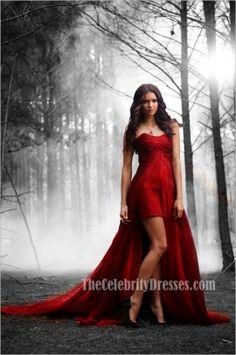 "Women Of ""The Vampire Diaries"" : Elena Gilbert played by Nina Dobrev. Elena Gilbert, Dresses Short, Prom Dresses, Dresses 2013, Dresses Online, Wedding Dresses, Vampire Diaries Season 2, Nina Dobrev Vampire Diaries, Vampire Diaries Costume"