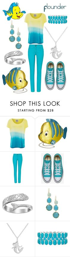 """Flounder Disneybound"" by msmith22 ❤ liked on Polyvore featuring Chiemsee, Danielle Nicole, ESCADA, Alex and Ani, Ippolita, Disney, Liz Claiborne, disney, disneybound and littlemermaid"