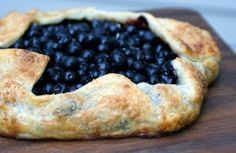 Blueberry Galette!  Many a summer evening on the terrace serving this galette.  Yum!