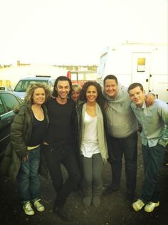 The good old days - #beinghuman Sinead Keenan, Aidan Turner, Lenora Crichlow, Marcus Whitney, Russell Tovey