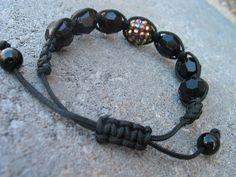 Macrame beaded shambala style bracelet. $10.00, via Etsy.