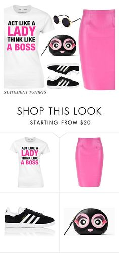 """""""Act Like A Lady..."""" by rev2fashion ❤ liked on Polyvore featuring adidas, Kate Spade and slogantshirts"""