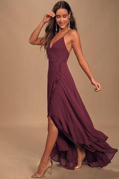 Lace Maxi, Maxi Wrap Dress, Dress Lace, Cute Maxi Dress, Cutout Dress, Sexy Dresses, Cute Dresses, Long Dresses, Plum Dresses