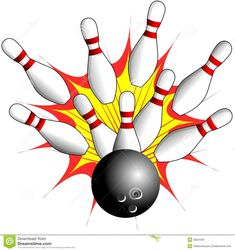 Isolated Bowling - Strike Illustration Stock Illustration - Illustration of competition, impact: 35931897 Bowling Pictures, Bowling Party, Clipart Design, Room Themes, Painting Inspiration, Painted Rocks, Card Making, Paper Crafts, Clip Art