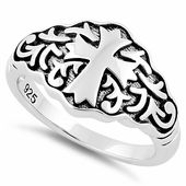 Sterling Silver Antique Cross Ring for Sale | Sterling Silver Rings Online