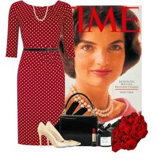 JACKIE O! by sasoula on Polyvore featuring Gwyneth Shoes, Vince Camuto, Gucci, Carolee, Forever 21, Lancôme, D.L. & Co. and vintage
