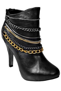 Anne Michelle Journee Chain Trim Booties