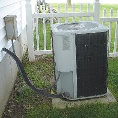 Air #conditioner compressors and heat exchanger pumps sitting on concrete pads may settle and tip over time, putting strain on coolant lines. One of these fixes can correct the problem.