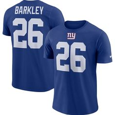 Men s New York Giants Saquon Barkley Nike Royal Player Pride Name   Number  Performance T-Shirt 493ddc131