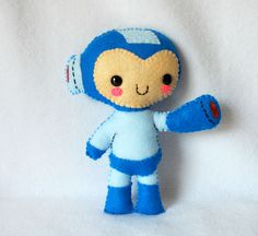 Vintage 2010 Deadly Sweet Megaman Plush www.etsy.com/listing/100180224/vintage-2010-deadly-sweet-megaman-plush?ref=v1_other_1#