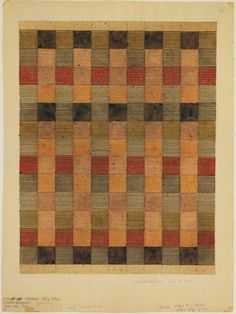 Anni Albers Design for a jute rug, 1927 watercolor and india ink on pape Anni Albers, Josef Albers, Textile Patterns, Textile Design, Floral Patterns, Palette Pastel, Bauhaus Textiles, Palette Design, Bauhaus Design