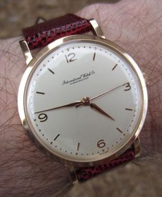Superb Vintage IWC Calibre 89 In Solid 18K Gold